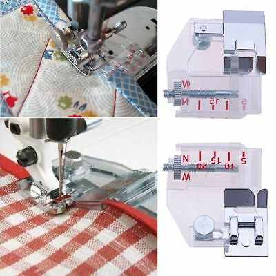 Home Adjustable Bias Binder Presser Foot Feet for Sewing Machines