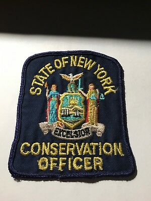 Old New York NY State Conservation Officer Fish and Game Police Patch