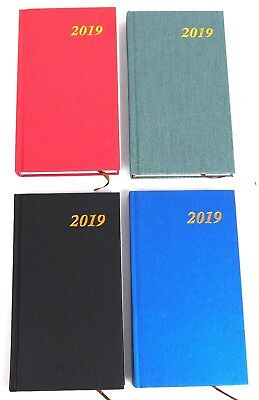 2019 Slim Metallic Hardcover Diary - Planner New Year Notebook Address Book