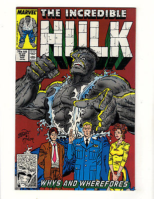 The Incredible Hulk #346 (1988, Marvel) VF- Peter David Todd McFarlane