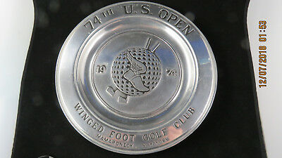 Wilton Pewter Plate 1974 U.S.Open Golf 74th Winged Foot Golf Club NY