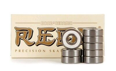 BONES CERAMIC SUPER REDS Skateboard Bearings BRAND NEW (NEXT DAY Shipping)