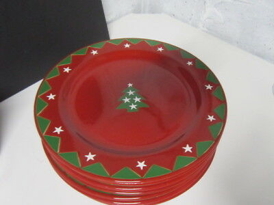 "8 Waechtersbach Germany  CHRISTMAS TREE by Noble Excellence 11"" Dinner Plates"