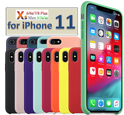 Original Ultra Suave Funda Silicona for iPhone 5 5s SE 6 6s 7 8 Plus X XR XS Max