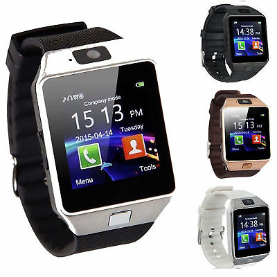 Bluetooth Smart Watches Touch Screen Man Kids For iPhone Android&IOS With Camera