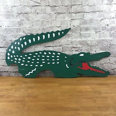 Vintage Sign Lacoste Crocodile display hard plastic