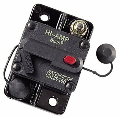 Bussmann DC Circuit Breaker 150 Amp Surface Mount Waterproof CB185-150 185150F
