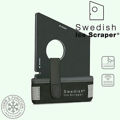 Swedish Ice Scraper Black GT Edition Windscreen Frost Window Snow De Icer Car