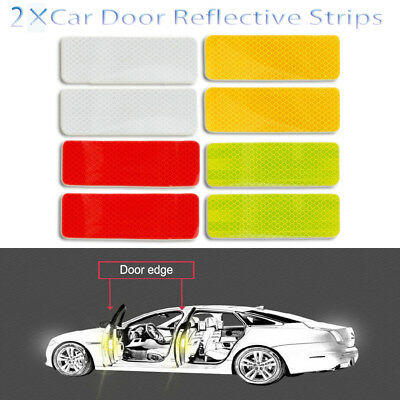 Warning Mark Luminous Stickers Safety Driving Car Door Reflective Strips ~