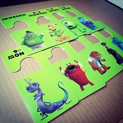 Baby clothes closet dividers. Monsters Inc. Newborn - 4T. CHD000008