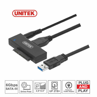 UNITEK Superspeed USB 3.0 to SATA Adapter with External 12V/2A Power Supply