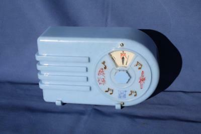 Gorgeous Vintage Blue Radio Shaped Music Box