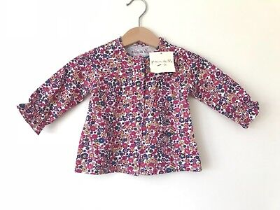 New GRAIN DE BLE baby girls french designer long sleeved t-shirt top blouse 3m