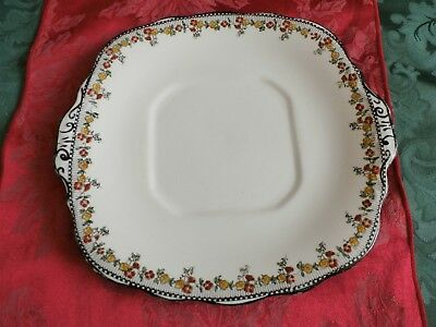 Vintage Sutherland china hand-painted cake or bread plate.
