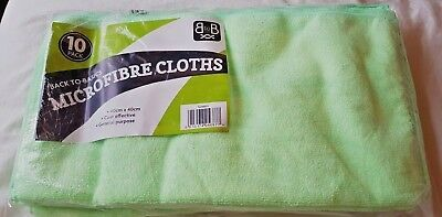 JOB LOT 100 Microfibre Cloths Contract Quality 40cmX40cm Cleaning Heavy Duty