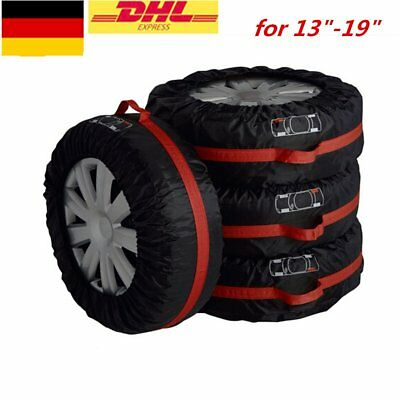 DE| Set of 4 Tire Storage Cover Tyre Wheel Carry Bag Tote Spare Wheel Protection