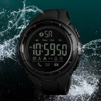 SKMEI Mens Waterproof Smart Watch Phone mate Digital Bluetooth Sport Wrist Watch