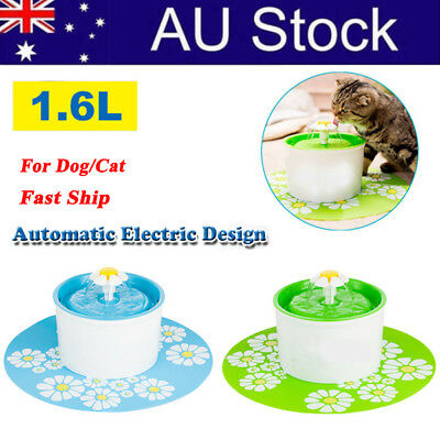 1.6L Dog/Cat Pet Automatic Electric Drinking Water Fountain Fountain Well Bowl