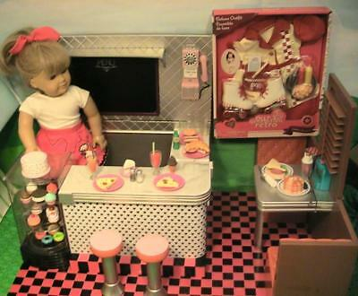 Our Generation Retro Diner with New in Box Today's Special Outfit