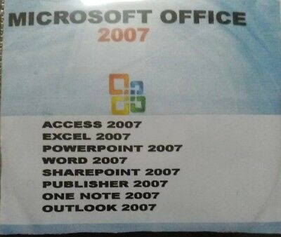 microsoft office 2007 with key (S/N) complete program