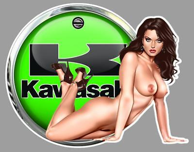 KAWASAKI PIN UP right Sticker droite