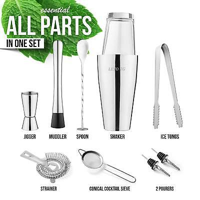 Premium 11 Piece Cocktail Making Set Bartender Kit with Boston Cocktail Shaker