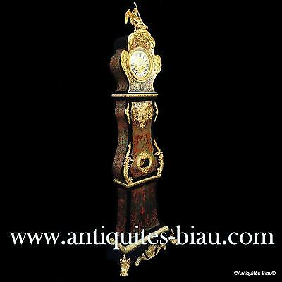 Antiques French Impressive clock longcase in Boulle marquetry 19Th Century