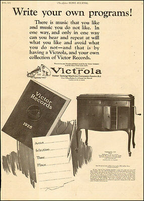 1925 vintage AD VICTROLA Phonograph , Victor Records Talking Machine Co. 082217