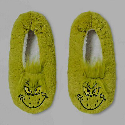 ** PAIR GRINCH SLIPPERS **  DR SEUSS Brand New With Tags Adult  Medium / Large