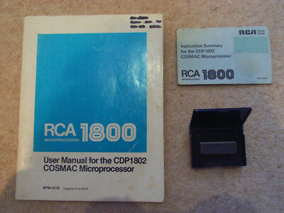 RCA CDP1802 AE COSMAC microprocessor with User Guide and Instruction Summary