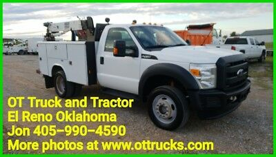 2012 Ford F-450 F450 4wd 3200lb Crane Mechanic Service Utility Bed Body 6.8L Gas