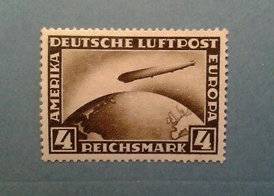German Third Reich 1928 Zeppelin 4RM Mint Lightly Hinged -Excellent Condition