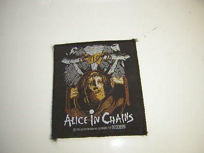 Alice In Chains Patch Vintage 1992 Licensed Niceman Unused Man In The Box