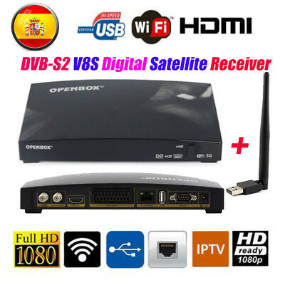 OPENBOX DVB-S2 V8S Digital Satellite Receiver PVR Full HD 1080P With USB WIFI