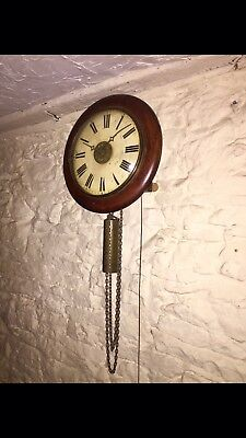 A Gorgeous Large Black Forest Wall Clock Circa~1880. *Fully Serviced*