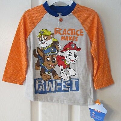 Boys Nickelodeon Paw Patrol Shirt Nwt Size 2T Msrp $24.00