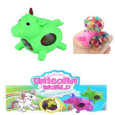 2x Einhorn Mesh Squishy Wutball Stressball Ball Kinder Office toys Grün