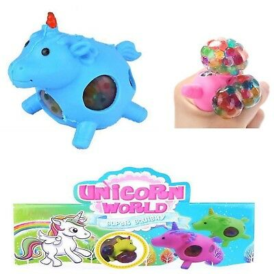 2x Einhorn Mesh Squishy Wutball Stressball Ball Kinder, Office toys Blau