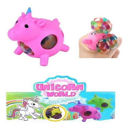 2x Einhorn Mesh Squishy Wutball Stressball Ball Kinder Office toys Pink