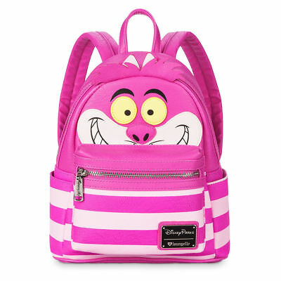 NWT Disney Parks Cheshire Cat Loungefly Alice in Wonderland Pink Mini Backpack