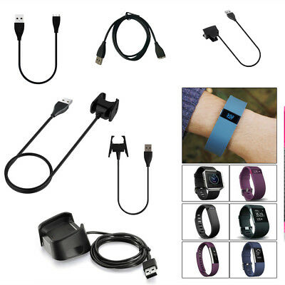 USB Charger Charging Cable Cord Wire For Fitbit CHARGE 2 3 HR Surge Alta Blaze