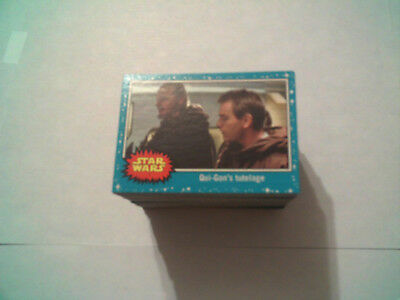 2017 Topps Star Wars Journey To The Last Jedi Complete Blue Base Set