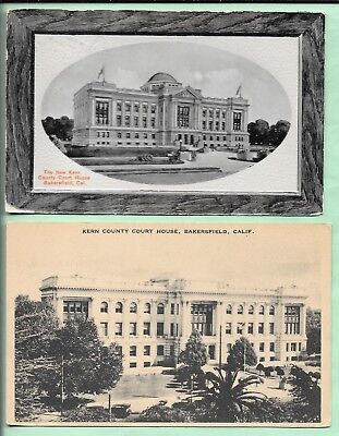 2 Postcards. Kern County Court House. Bakersfield, California.