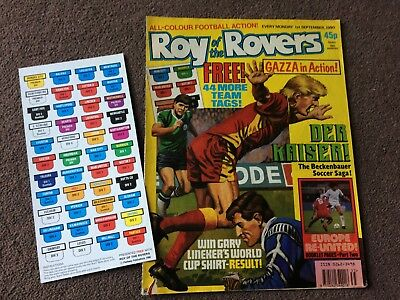 1990 Roy Of The Rovers Comics X 3 + League Ladders Free Gifts
