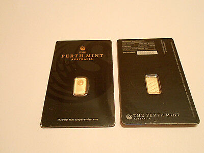 Gold 1Gram New Sealed Solid 24K Perth Mint Gold Bar Invest