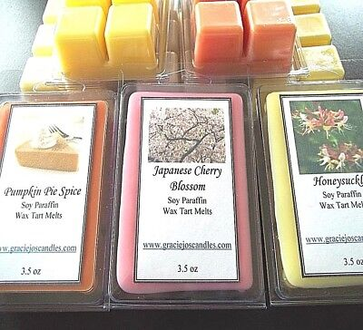 Candle Wax Melts Tarts Chunks Chips Cubes Home Scents Fragrance 3 PK BUNDLE SALE