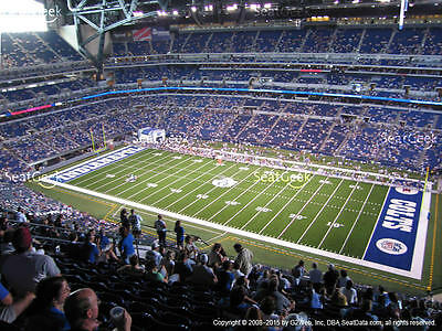 2 New York Giants vs Indianapolis Colts Tickets 12/23 3rd Row Aisle Lucas Oil