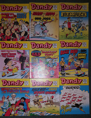 6 x Dandy Comic Library - Numbers 12, 14, 17, 18, 28 & 43 - from 1983-85