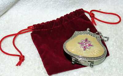 PARTYLITE Hollywood Glamour Travel Tealight Purse NEW Never Used Mirror Back