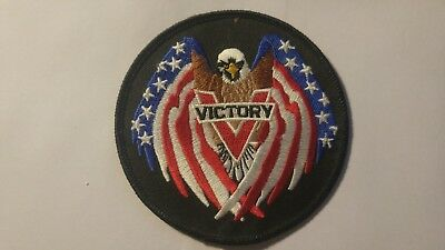 Victory  Eagle Flag embroidered patch 4""